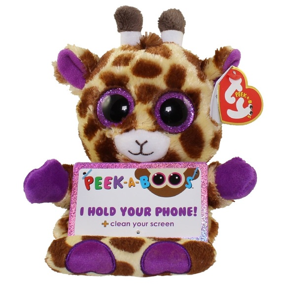 Ty Peek-A-Boos Jesse The Giraffe Plush ~ Holds Your Phone Clean Your Screen